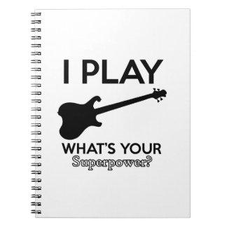 Caderno Espiral guitarra legal elétrica
