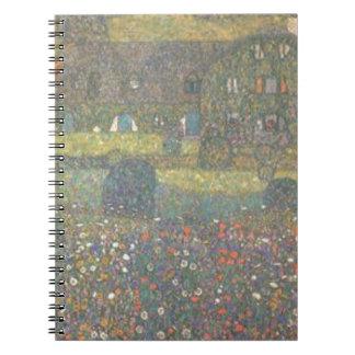 Caderno Espiral Gustavo Klimt - casa de campo pela arte de