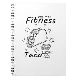 Caderno Espiral Gym engraçado do exercício do Taco da malhação