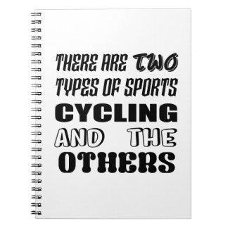 Caderno Espiral Há dois tipos de ciclagem e de outro dos esportes