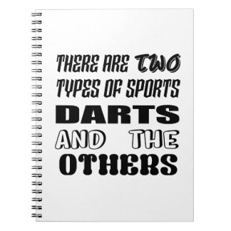 Caderno Espiral Há dois tipos de dardos e de outro dos esportes