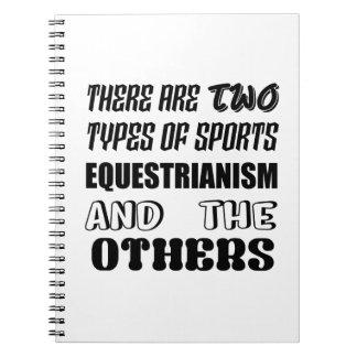 Caderno Espiral Há dois tipos de Equestrianism e de ot dos