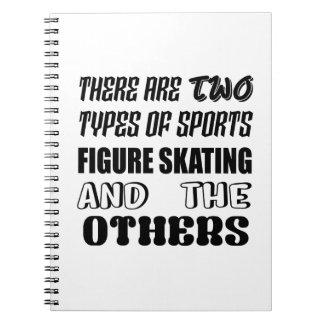 Caderno Espiral Há dois tipos de patinagem artística dos esportes