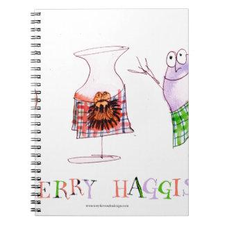 Caderno Espiral haggis alegres