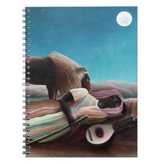 Caderno Espiral Henri Rousseau o vintage aciganado do sono