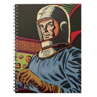 Caderno Espiral Herói idoso do futuro