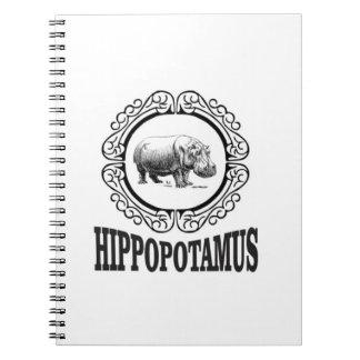 Caderno Espiral Hipopótamo quadro
