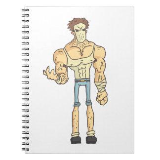Caderno Espiral História em quadrinhos esboçada do assassino em