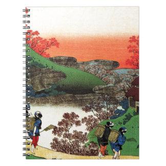 Caderno Espiral Hokusai - arte japonesa - Japão