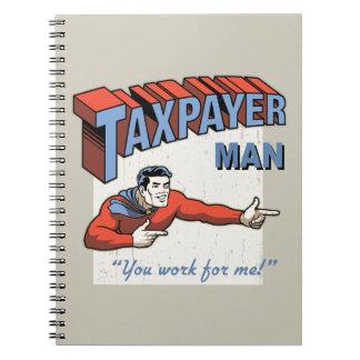 Caderno Espiral Homem do contribuinte
