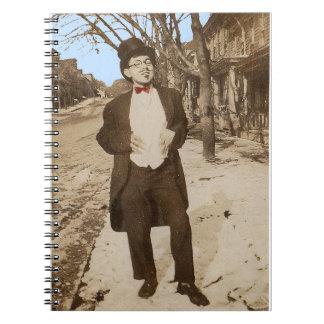 Caderno Espiral homem novo elegante da foto vernáculo do 1920