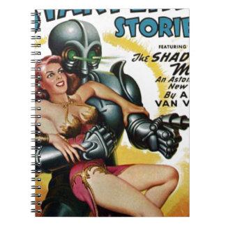 Caderno Espiral Homens da sombra do espaço