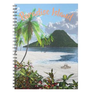 Caderno Espiral Ilha do paraíso