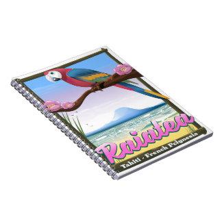 Caderno Espiral Ilhas de sociedade de Raiatea, Tahiti, Polinésia