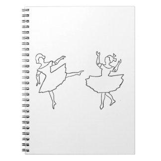 Caderno Espiral Ilustração do entalhe dos dançarinos