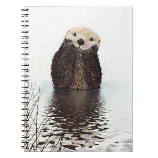 Caderno Espiral Imagem bonito dos animais selvagens da lontra