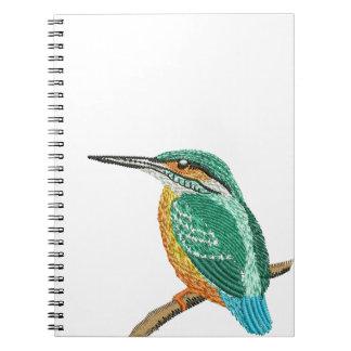 Caderno Espiral imitação do bordado do martinho pescatore
