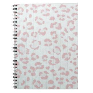 Caderno Espiral impressão animal da selva da chita do rosa de bebê