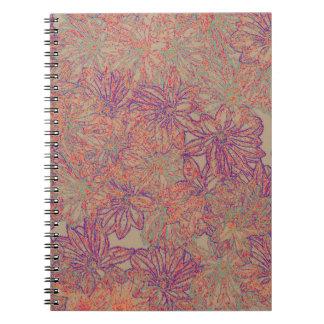 Caderno Espiral Impressão da margarida de Rennie