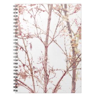 Caderno Espiral Impressão Textured da natureza