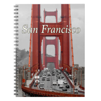 CADERNO ESPIRAL IMPRESSIONANTE! GOLDEN GATE BRIDGE CALIFÓRNIA EUA
