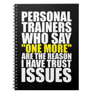 Caderno Espiral Instrutores e edições pessoais da confiança -