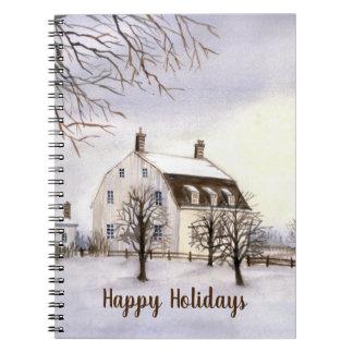 Caderno Espiral Inverno em Nova Inglaterra pelo Greenfield de