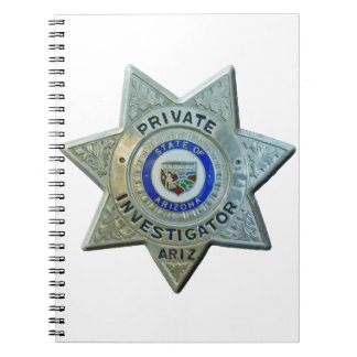 Caderno Espiral Investigador privado da arizona