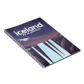 "Caderno Espiral Islândia ""para uma aventura! """