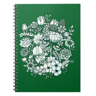 Caderno Espiral Jardim