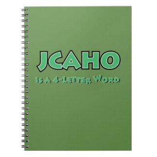 Caderno Espiral JCAHO é uma palavra 4-Letter