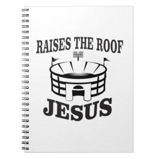 Caderno Espiral Jesus aumenta o telhado yeah