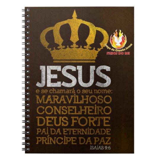 Caderno Espiral Jesus Rei