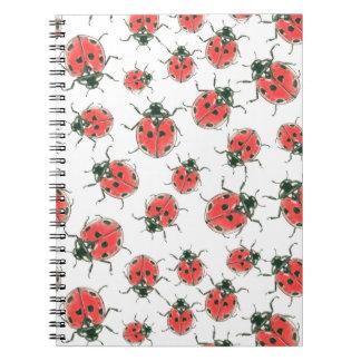 Caderno Espiral Joaninhas