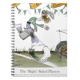 Caderno Espiral jogador de futebol irlandês do direita