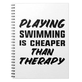 Caderno Espiral Jogar a natação é mais barato do que a terapia