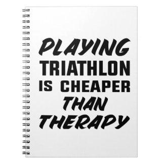 Caderno Espiral Jogar o Triathlon é mais barato do que a terapia