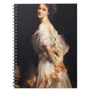 Caderno Espiral John Singer Sargent - Nancy Astor - belas artes
