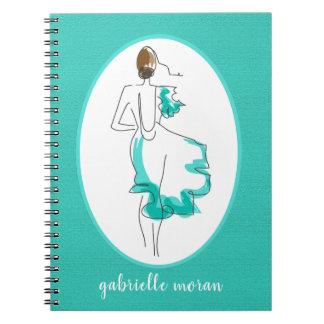 Caderno Espiral Jornal chique da ilustração da forma