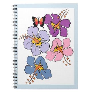 Caderno Espiral Jornal da flor e da borboleta
