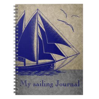 Caderno Espiral Jornal da navigação náutico