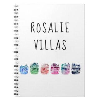 Caderno Espiral Jornal das casas de campo de Rosáalia
