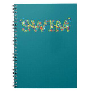 Caderno Espiral Jornal de 2017 natações
