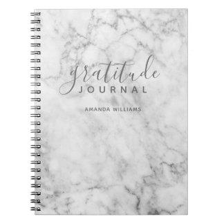Caderno Espiral Jornal de mármore da gratitude do teste padrão -