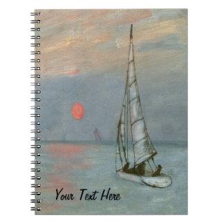 Caderno Espiral Jornal do livro de nota da navigação
