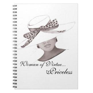 Caderno Espiral Jornal elegante do chapéu