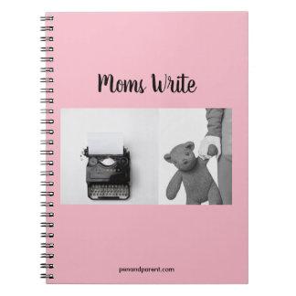 Caderno Espiral Jornal espiral para o escritor/mães