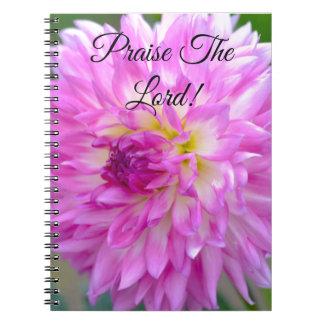 Caderno Espiral Jornal floral: Elogie o senhor!