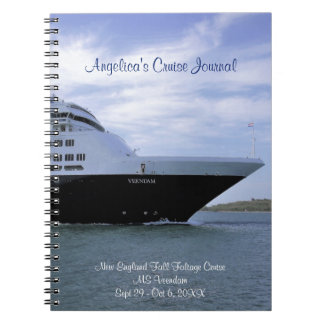 Caderno Espiral Jornal personalizado do cruzeiro do navio de
