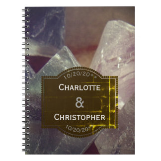 Caderno Espiral Jornal Wedding personalizado pedra preciosa da